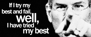Steve Jobs Well I Have Tried My Best Paper Print Quotes Motivation