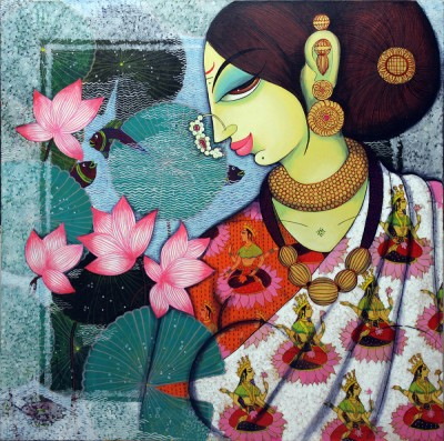 v119_18_Lakshmi_36_inch_X_36_inch_Acrylic_on_Canvas