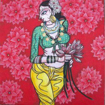 woman-with-lotus-varsha-kharatmal