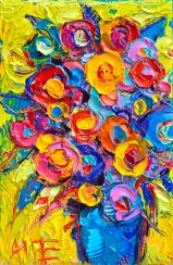 abstract-flowers-of-happiness-modern-textural-impressionist-impasto-knife-oil-by-ana-maria-edulescu-ana-maria-edulescu