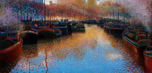 "Harbor Colors by Ton Dubbeldam at Art Leaders Gallery, voted ""Michigan's Best Fine Art Gallery"" is located in the heart of West Bloomfield. This full service fine art gallery is the destination for all your art and custom picture framing needs. Our extensive inventory of art includes styles ranging from contemporary to traditional. The gallery represents international, national, and emerging new talent as well as local Michigan artists."