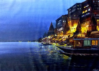 VARANASI-GHAT-AT-NIGHT
