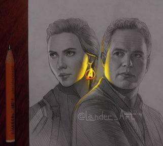 08-Black-Widow-and-The-Hulk-Chertkova-Lena-Game-of-Thrones-Glowing-Sketches-www-designstack-co