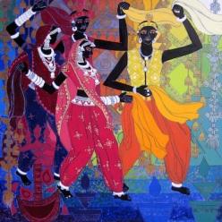 artwork106_Festive Rhythm-30,48''x48''